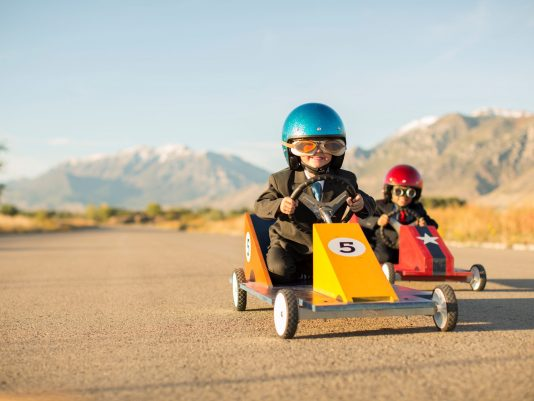 two boys racing car copy